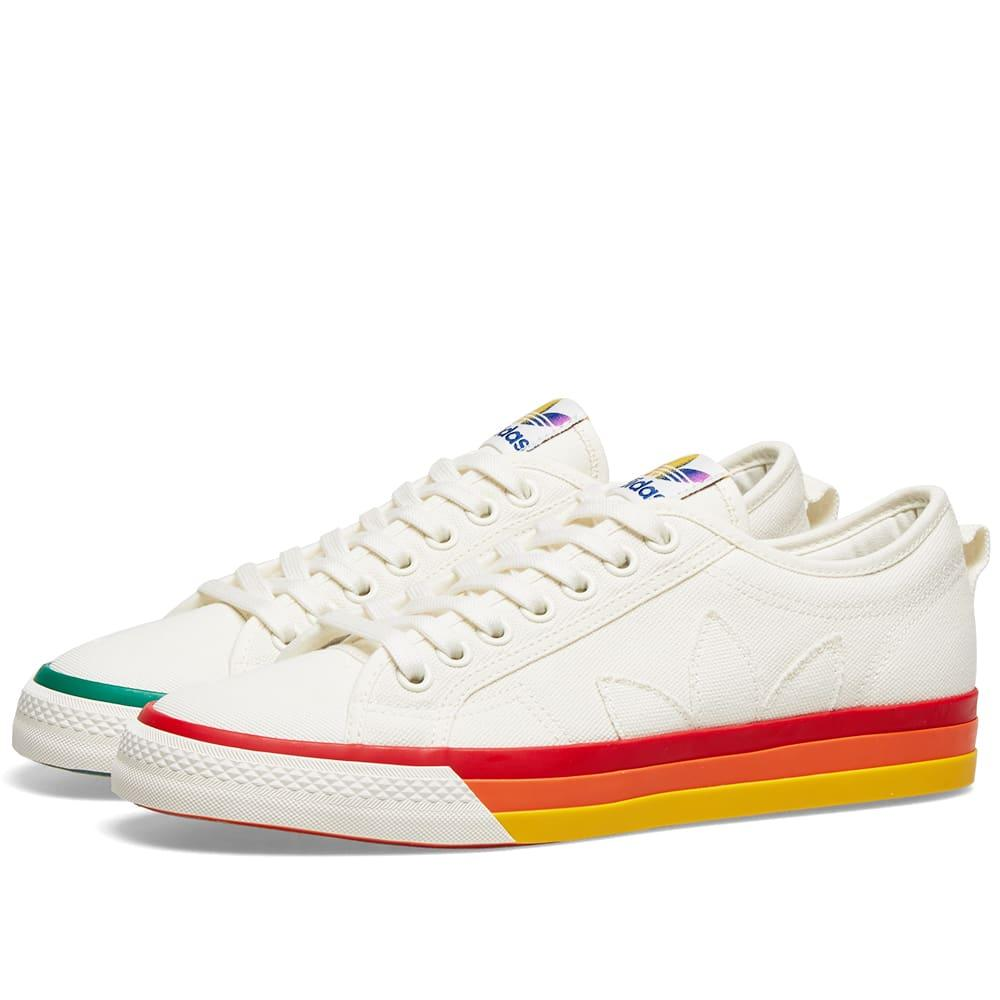 adidas Canvas Nizza Pride in White for