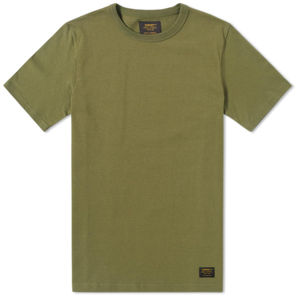 Lyst carhartt wip military tee in green for men for Lands end logo shirts