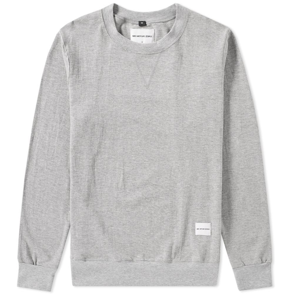 lyst mki miyuki zoku single jersey track sweat in gray for men. Black Bedroom Furniture Sets. Home Design Ideas