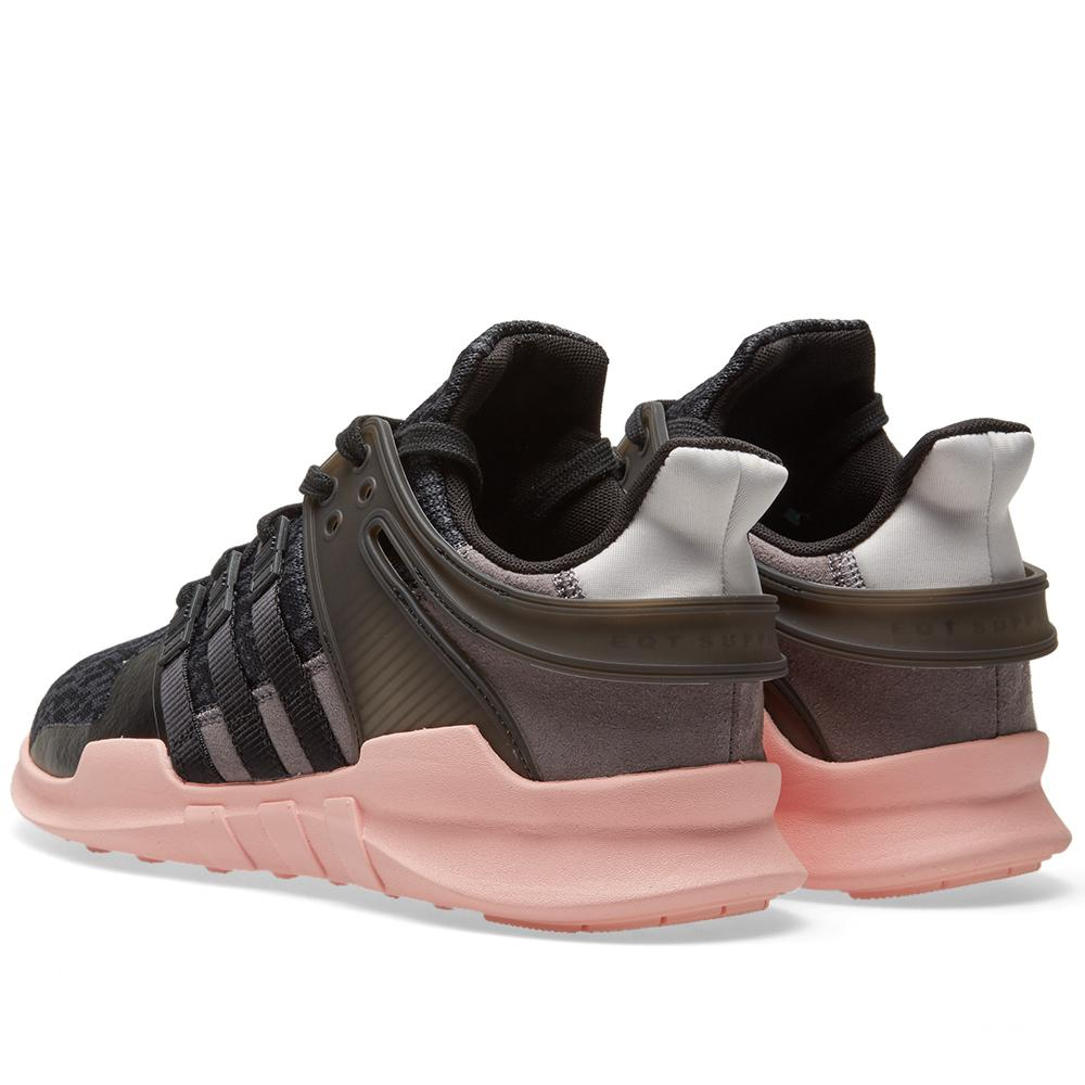 Lyst - adidas Originals Black   Pink Equipment Support Adv Sneakers ... ad65be5c5