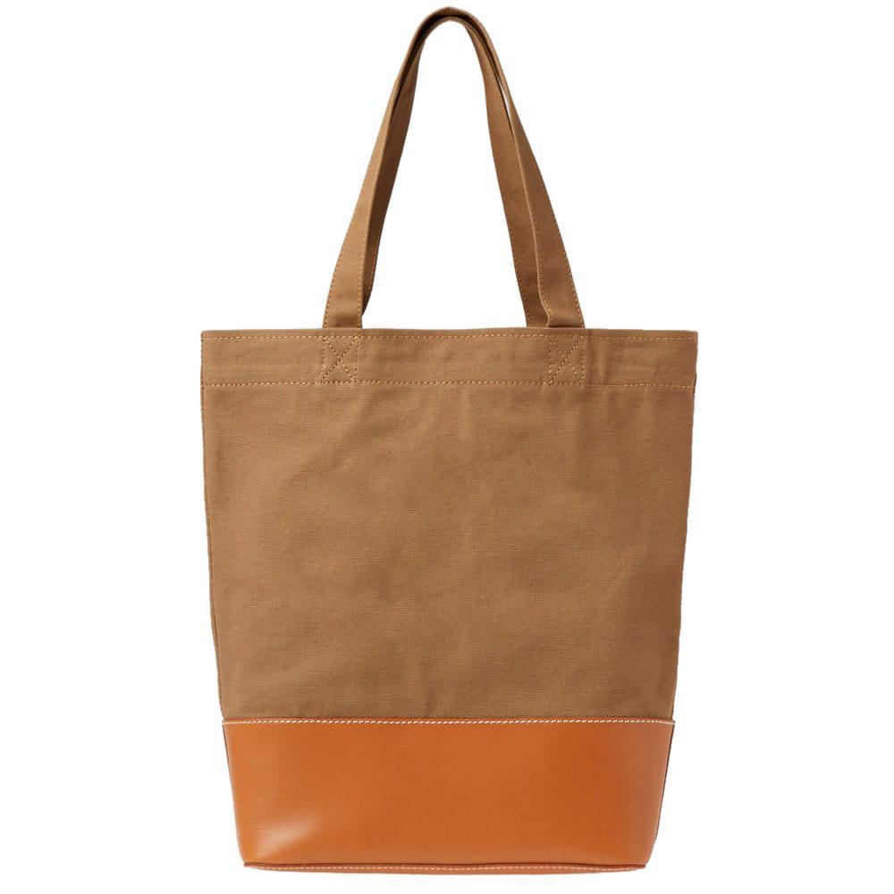 A.P.C. Axel Denim Tote Bag in Brown