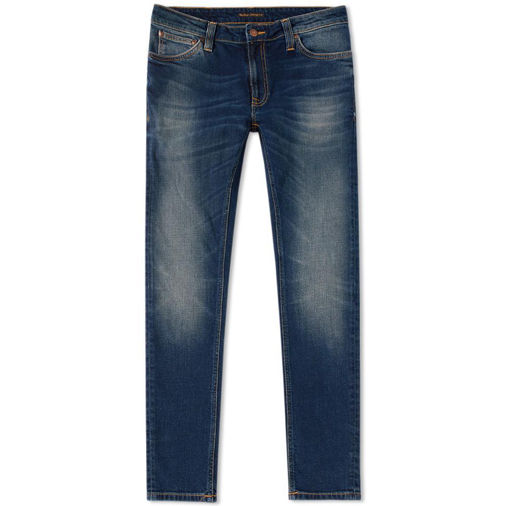 nudie jeans nudie skinny lin jean in blue for men save 37 lyst. Black Bedroom Furniture Sets. Home Design Ideas