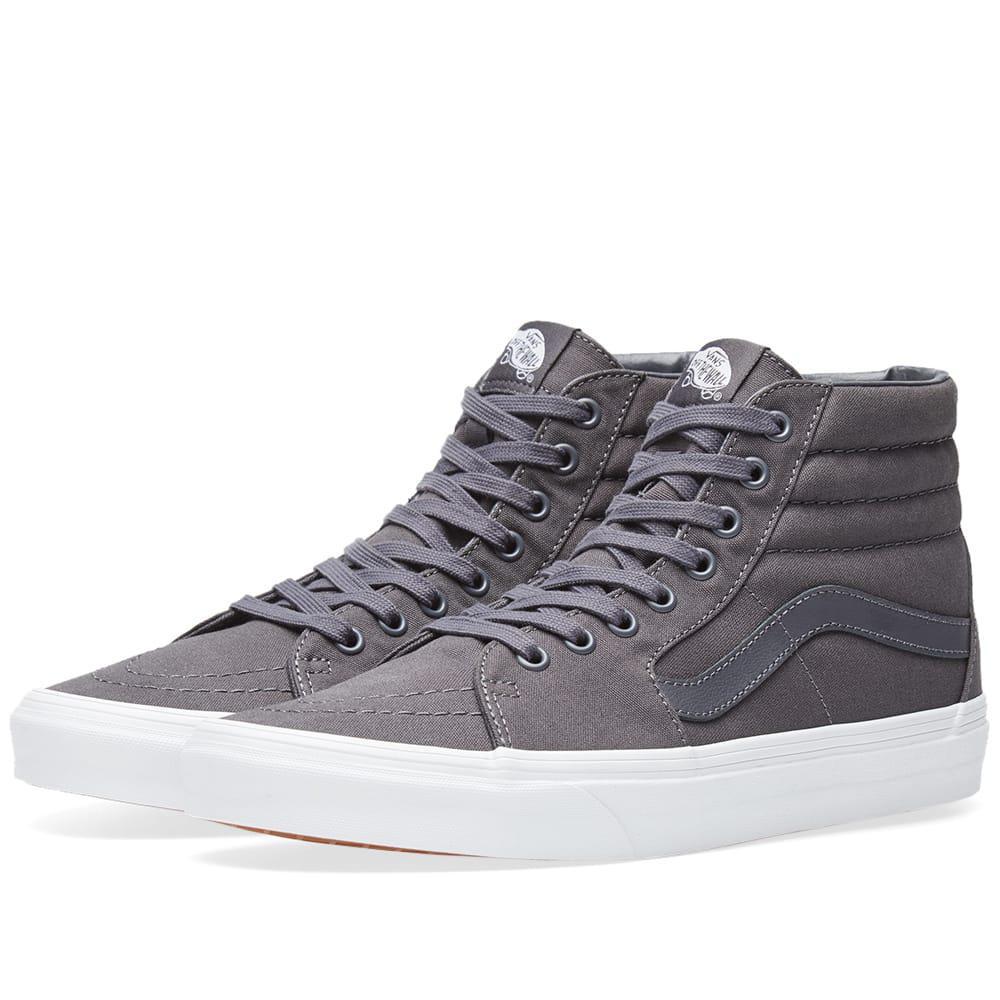 3fa87e6a49 Vans Sk8-hi Mono Canvas in Gray for Men - Save 39.0625% - Lyst