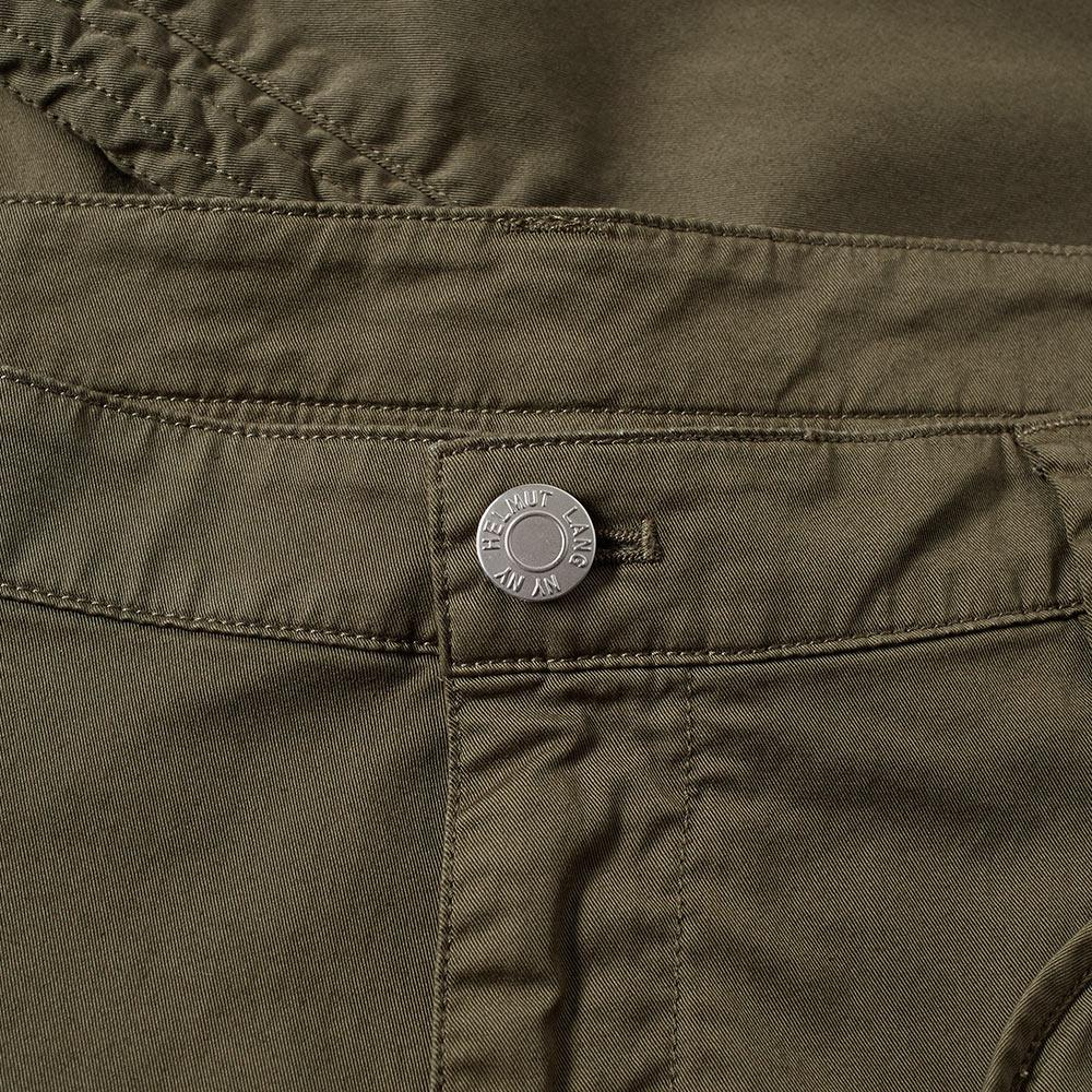 Helmut Lang Cotton Utility Trouser in Green for Men