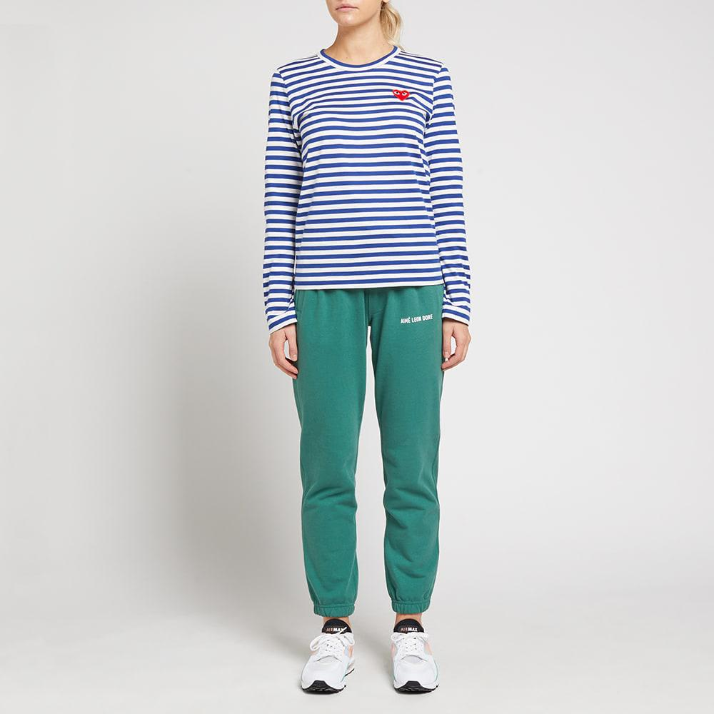 ca56b5ef7662 Lyst - Play Comme Des Garçons Stripe Long Sleeve T-Shirt in Blue ...