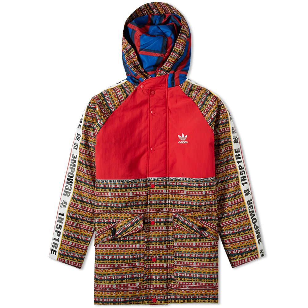 ad44b53a30eab Adidas - Red By Pharrell Williams Solarhu Padded Jacket for Men - Lyst.  View fullscreen