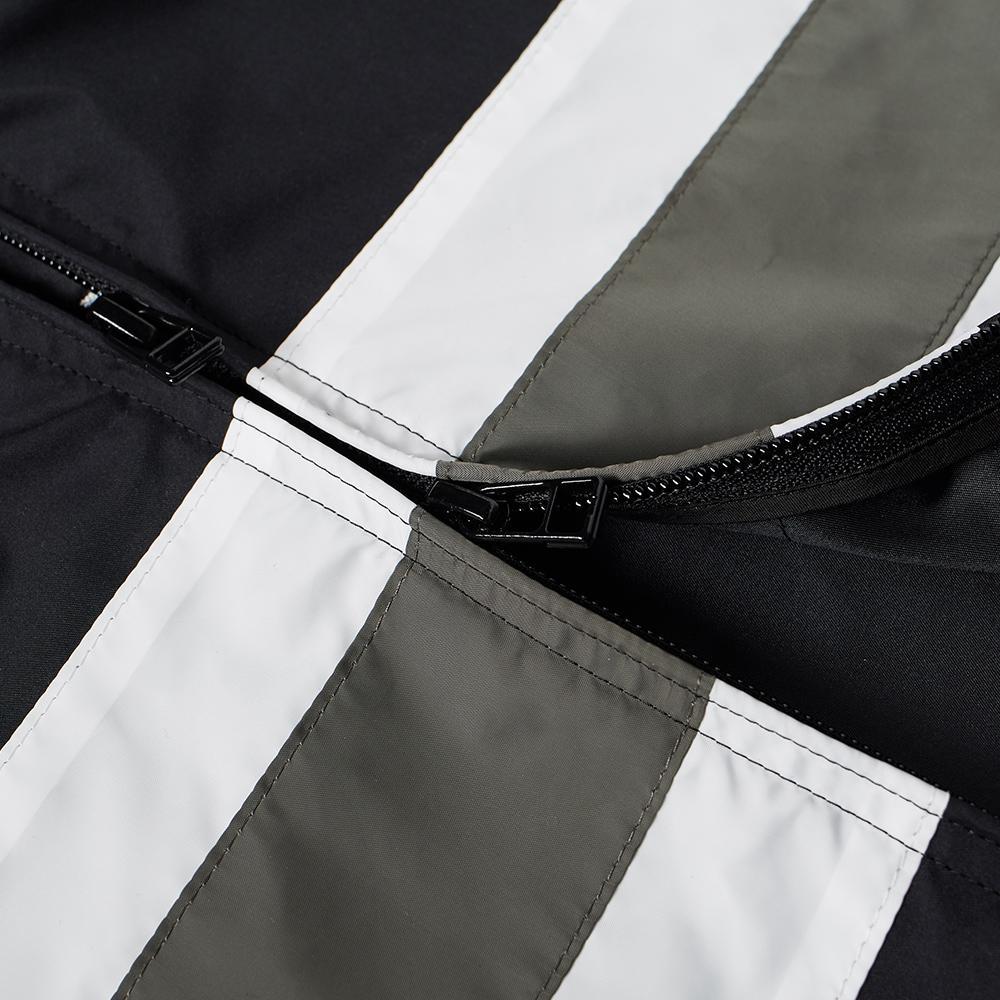 Sophnet Chest Line Zip Up Anorak In Black For Men