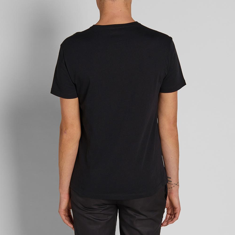 Alexander McQueen Cotton Gold Feathers Tee in Black for Men