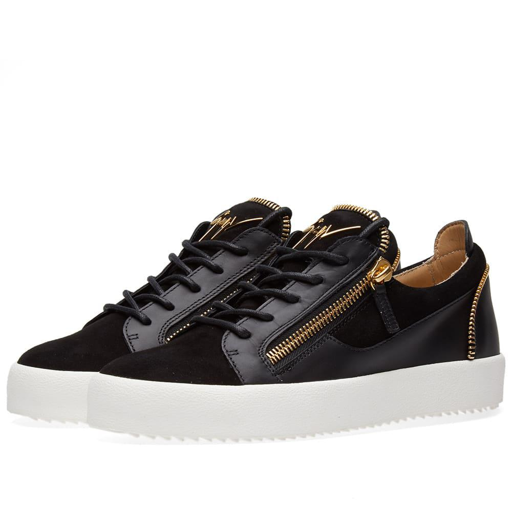 Giuseppe ZanottiLeather & Suede Double-Zip Sneakers pN3mCvip