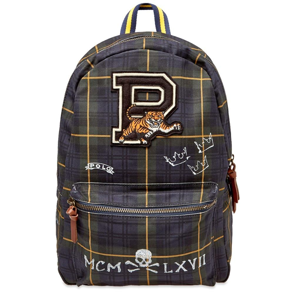 bcebca25b6 Lyst - Polo Ralph Lauren Black Watch Tartan Patch Backpack in Blue ...