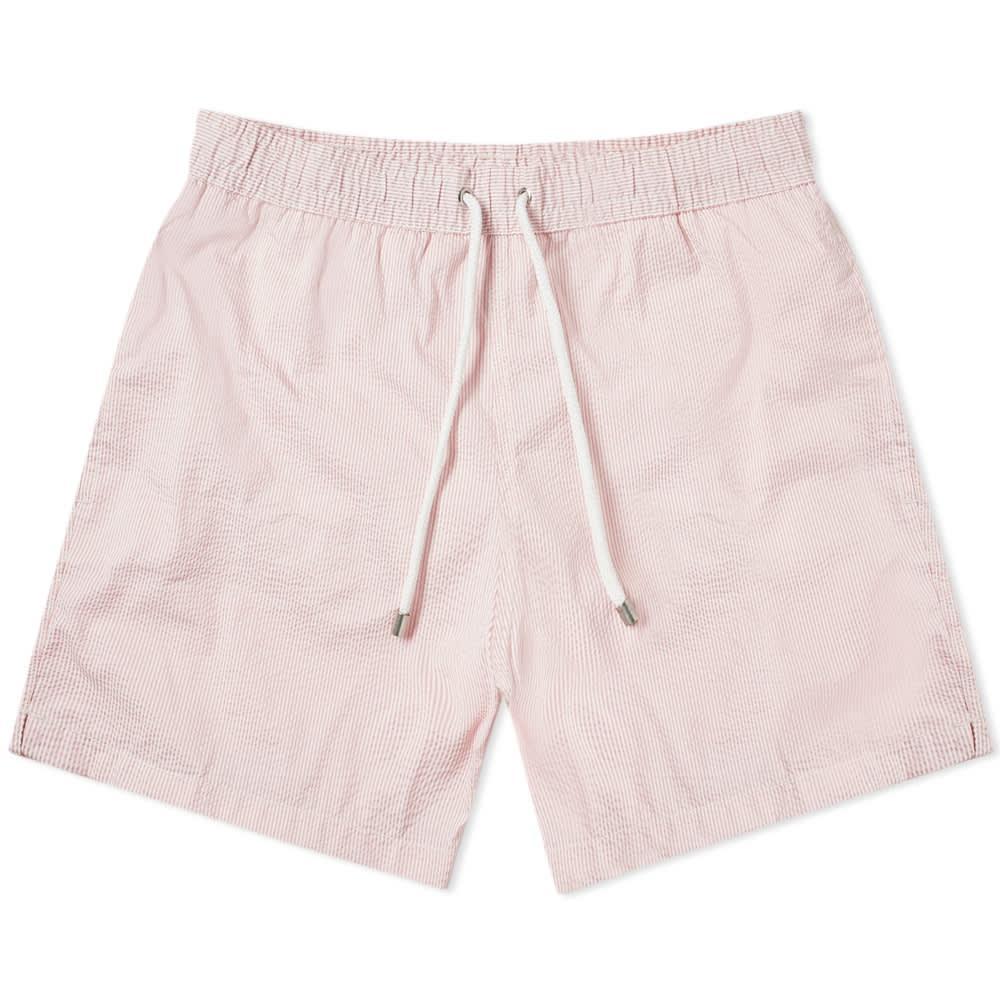 850d4905b52e Lyst - Hartford Seersucker Swim Short in Pink for Men