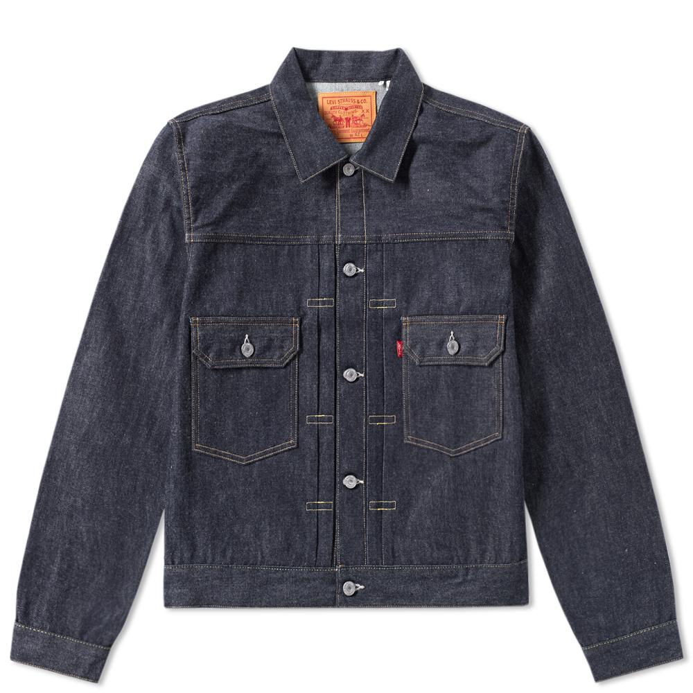 Levi 39 s levi 39 s vintage clothing 1953 type ii jacket in blue for Types of denim shirts