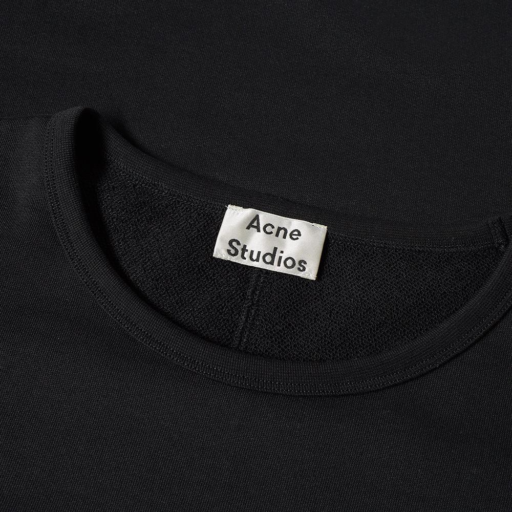 Acne Studios Cotton Finish Rugby Stripe Crew Sweat in Black for Men