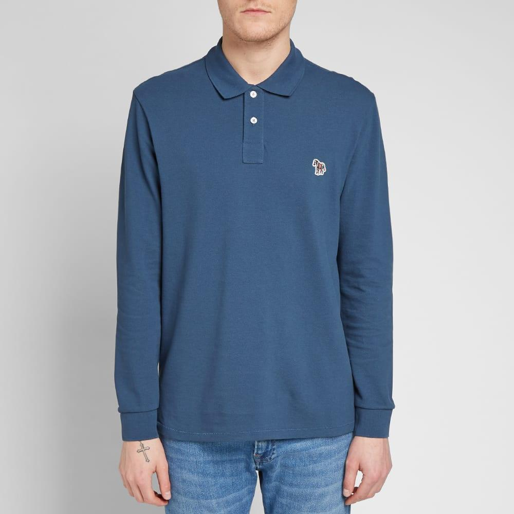 1a5de3dd5 Paul Smith - Blue Long Sleeve Zebra Polo for Men - Lyst. View fullscreen