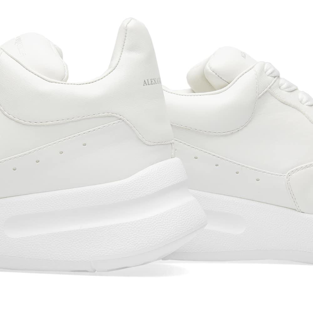 Alexander McQueen Leather Wedge Sole Runner in White for Men