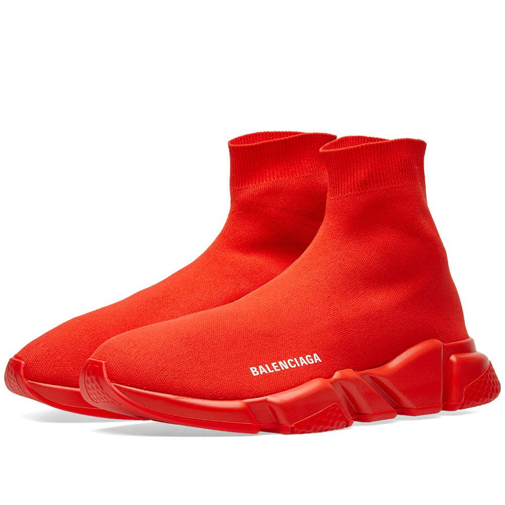 Balenciaga Speed Sock Logo Trainers in