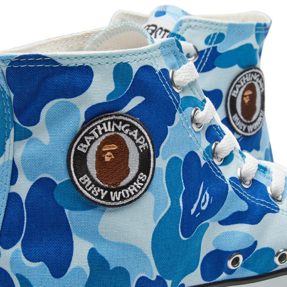 A Bathing Ape Rubber Ape Sta Hi in Blue for Men
