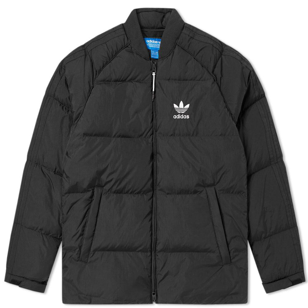 lyst adidas superstar down jacket in black for men. Black Bedroom Furniture Sets. Home Design Ideas