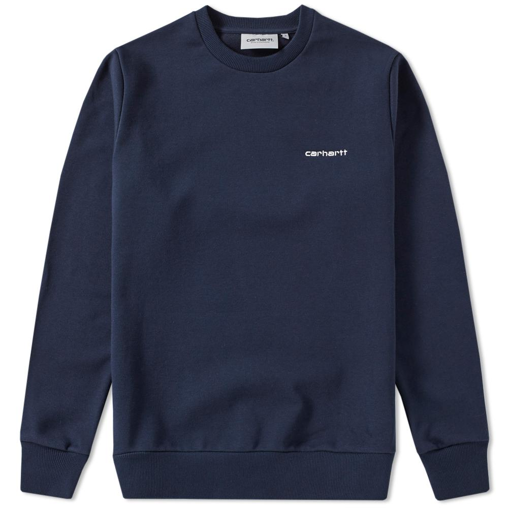 Lyst carhartt wip embroidered script sweat in blue for men