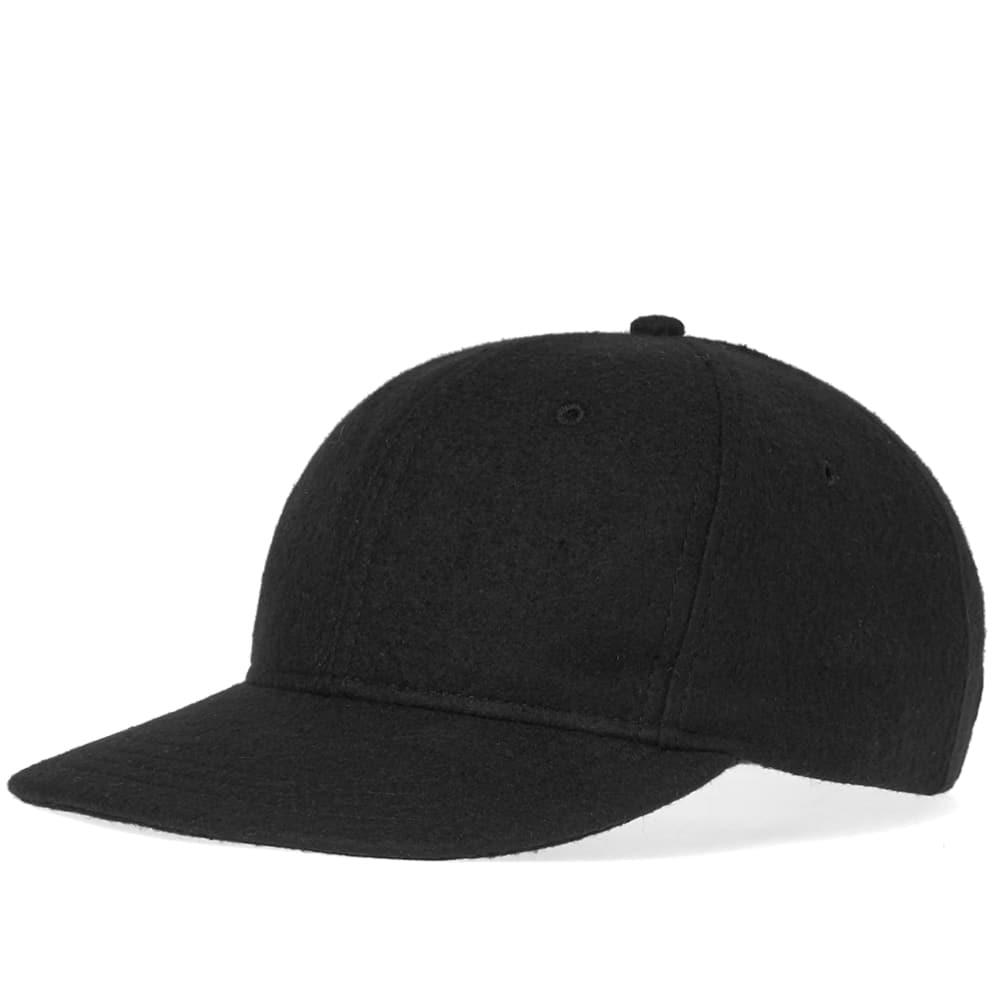 Lyst - Wings + Horns Compressed Wool 5-panel Cap in Black for Men ... 7acc69eb99f4