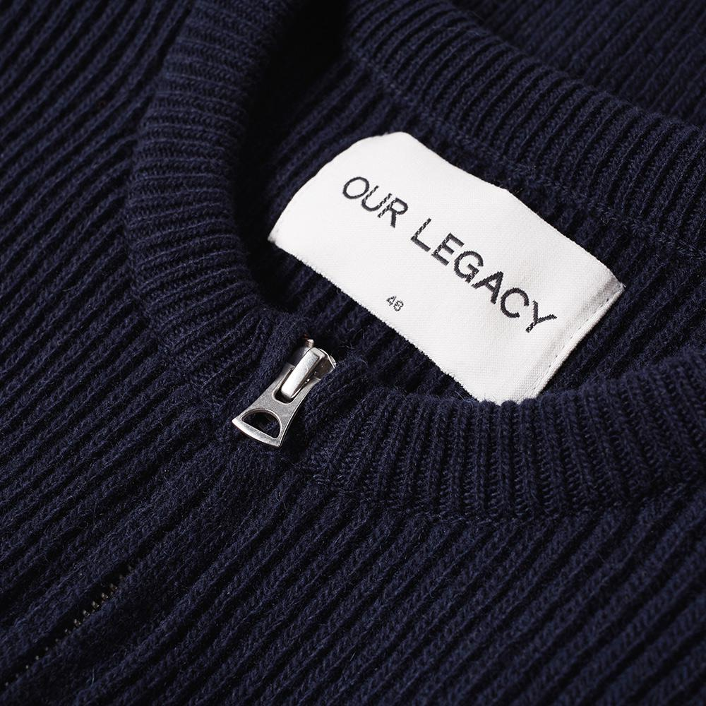 Our Legacy Wool Splash Knit Liner Jacket in Blue for Men