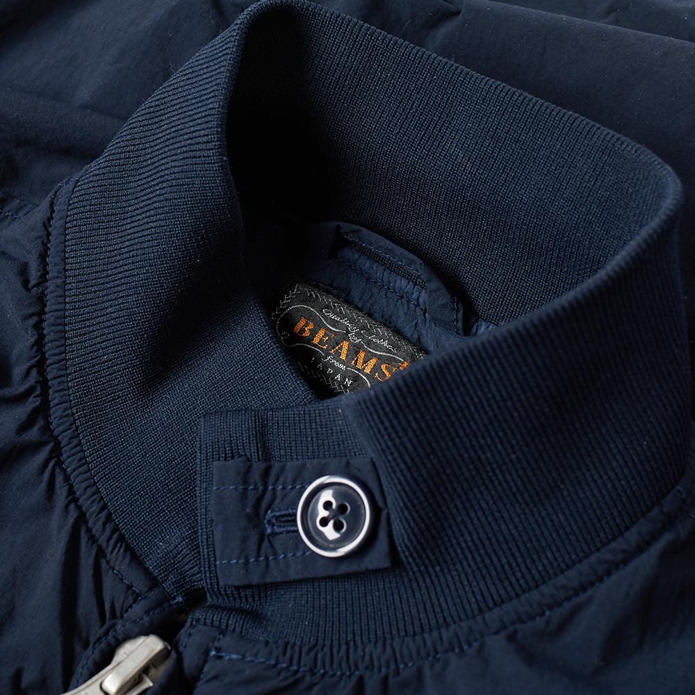 Beams Plus Synthetic Usn Flight Jacket in Blue for Men