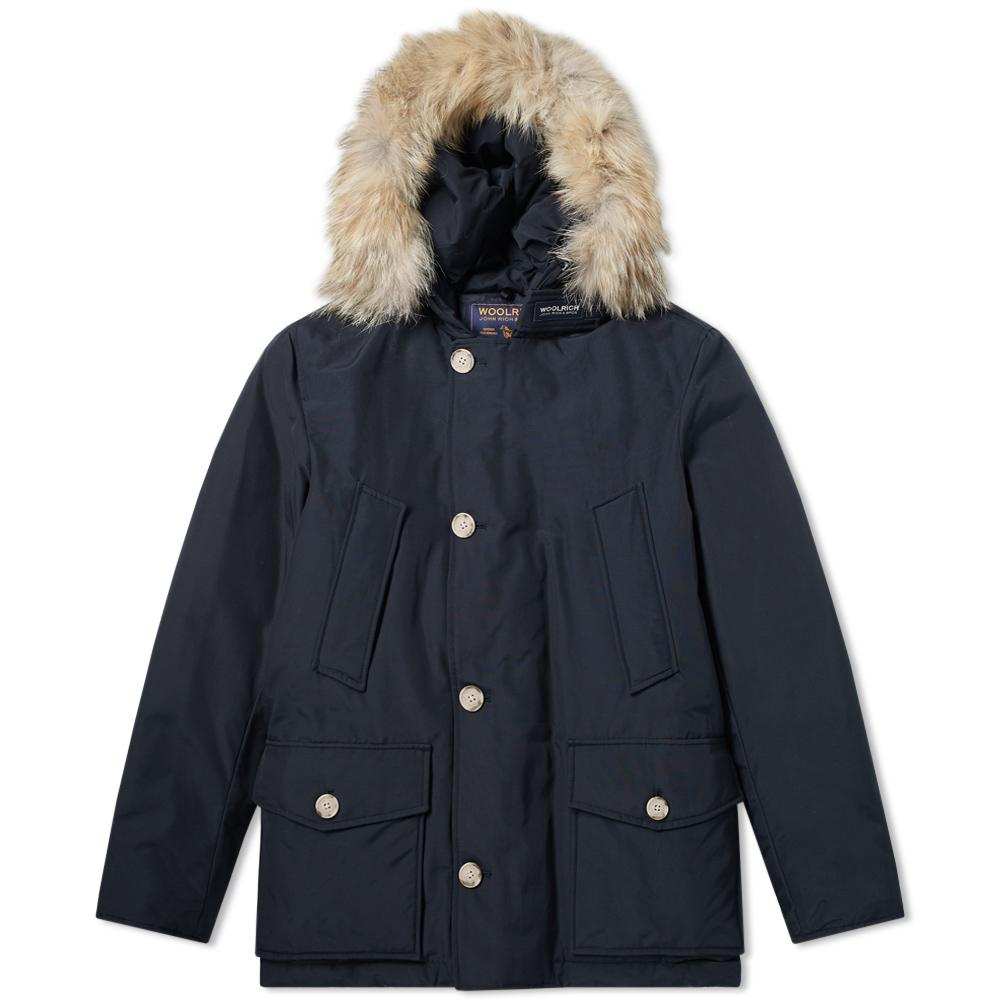 lyst woolrich arctic anorak in blue for men. Black Bedroom Furniture Sets. Home Design Ideas