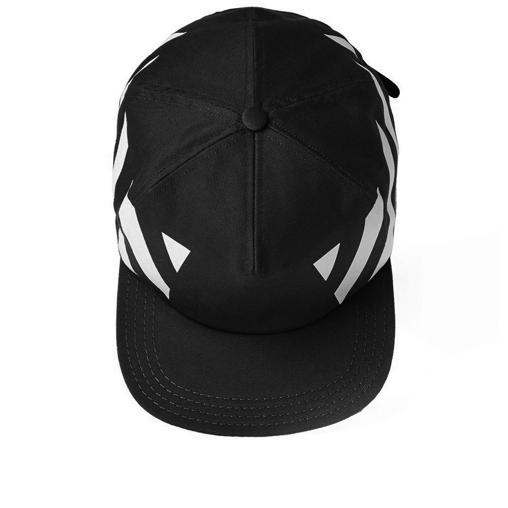 Lyst - Off-white c/o virgil abloh Diagonals Cap in Black for Men