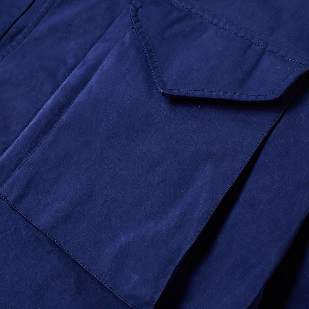 C P Company Synthetic Field Shirt Jacket in Blue for Men