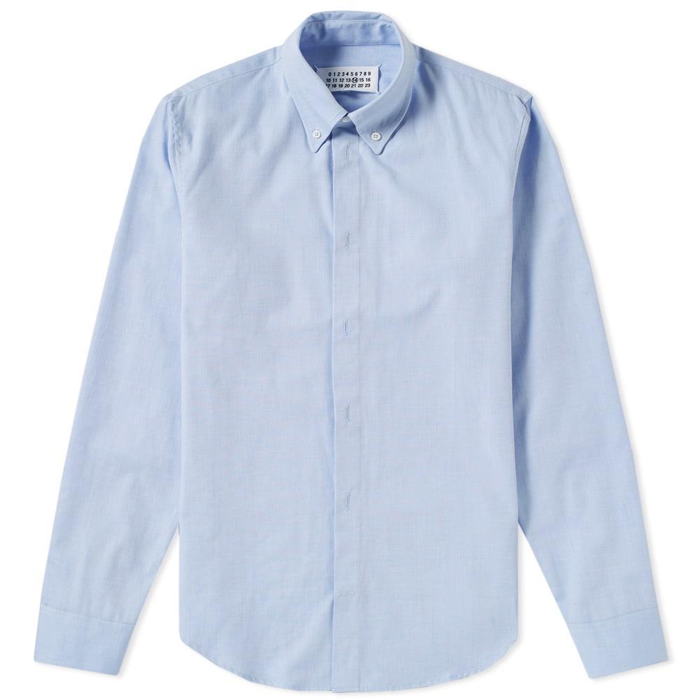 Lyst maison margiela 14 classic button down oxford shirt for Preppy button down shirts
