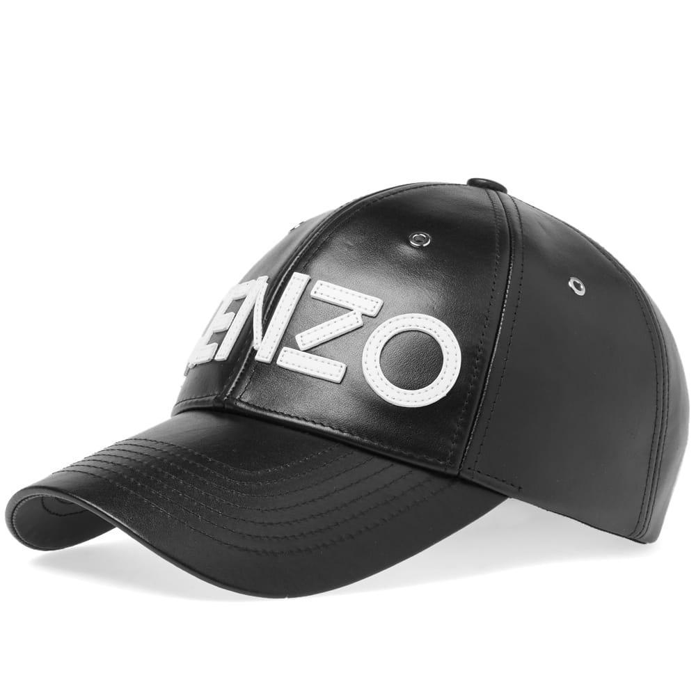 Lyst - KENZO Leather Cap in Black for Men 771124ccffe3