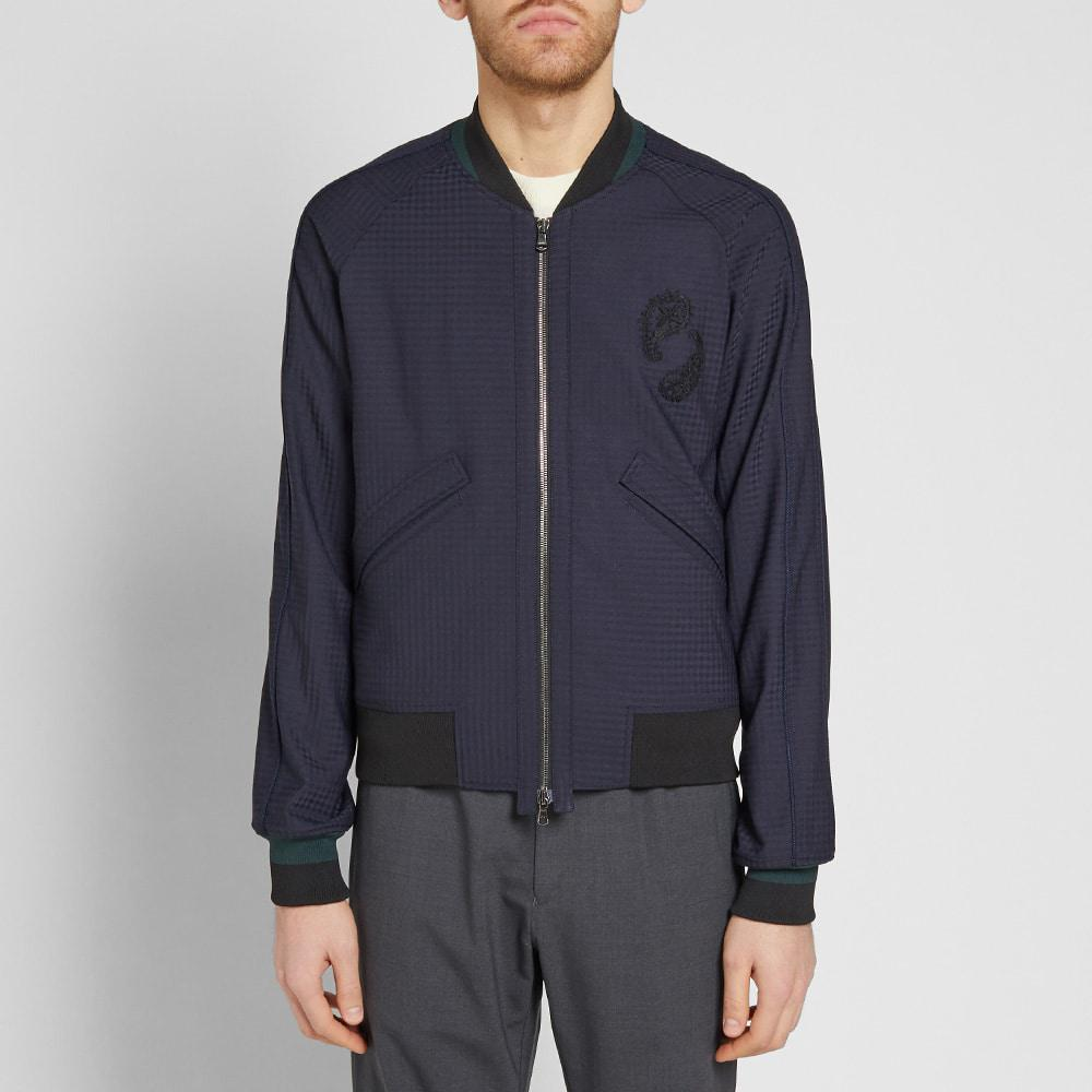 Wooyoungmi Wool Paisley Motif Bomber Jacket in Blue for Men