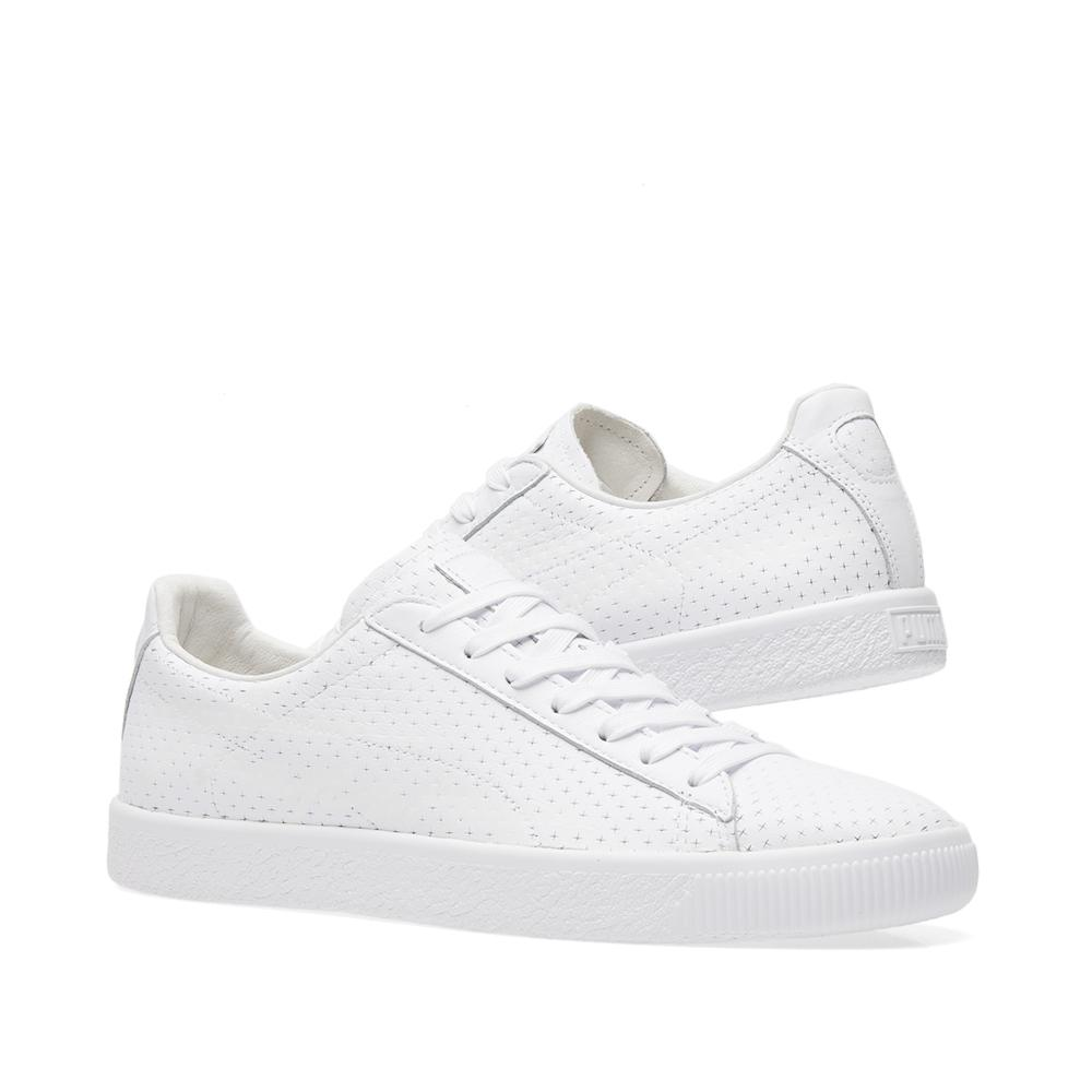 dd831c9ae8e Lyst - PUMA X Trapstar Clyde Perforated in White for Men