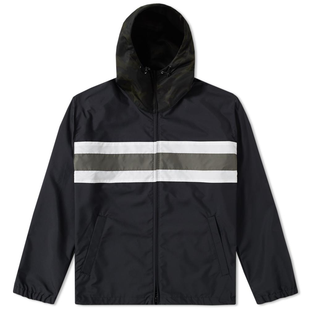 Sophnet Synthetic Chest Line Zip Up Anorak In Black For