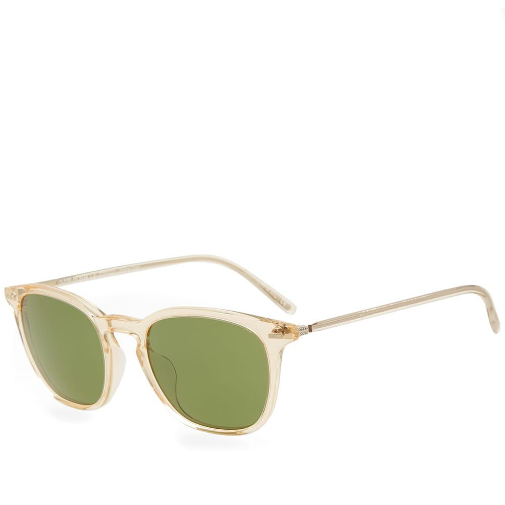 59883b8641a02 Lyst - Oliver Peoples Heaton Sunglasses in Green for Men