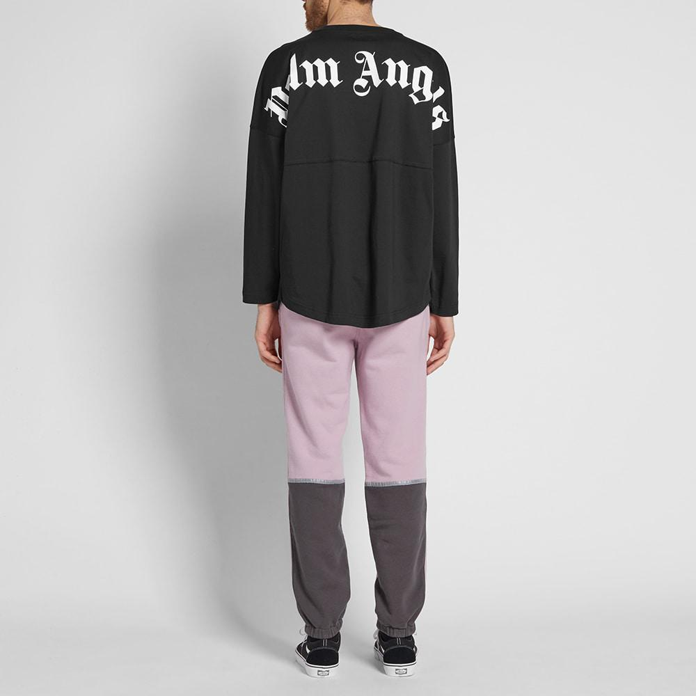 Palm Angels Cotton Long Sleeve Mock Tee in Black for Men