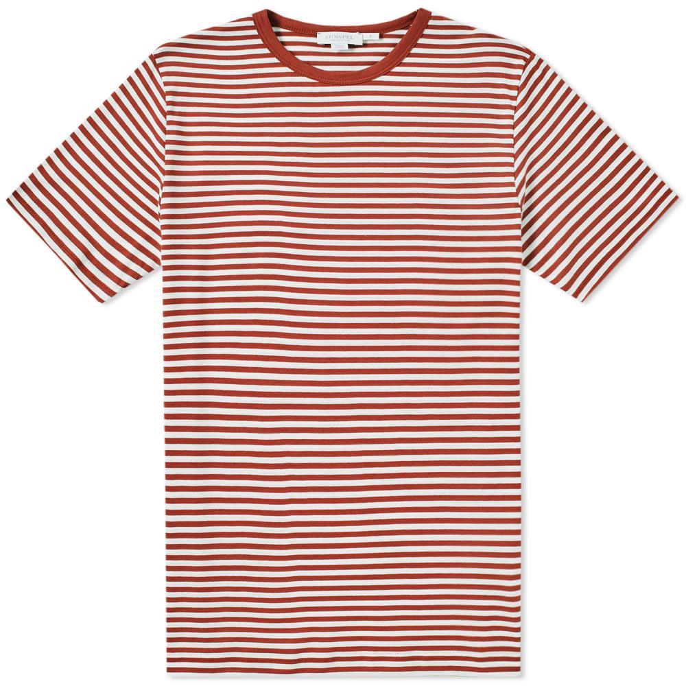 797b065463d Sunspel English Stripe Tee in Orange for Men - Save ...
