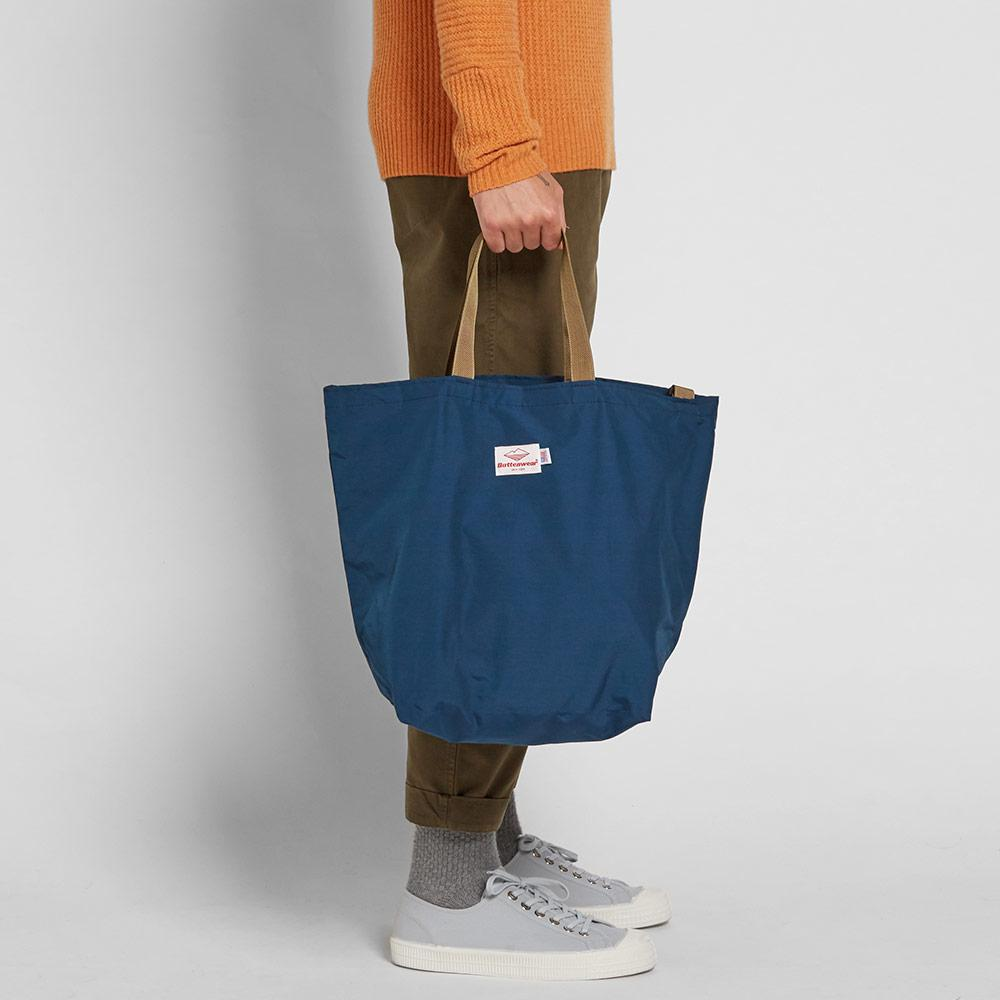 Battenwear Cotton Packable Tote in Blue