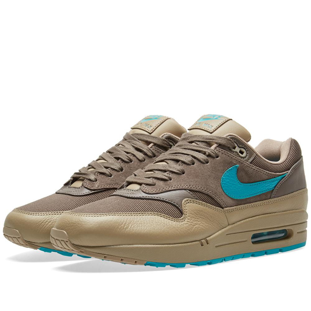 lyst nike air max 1 premium in brown. Black Bedroom Furniture Sets. Home Design Ideas