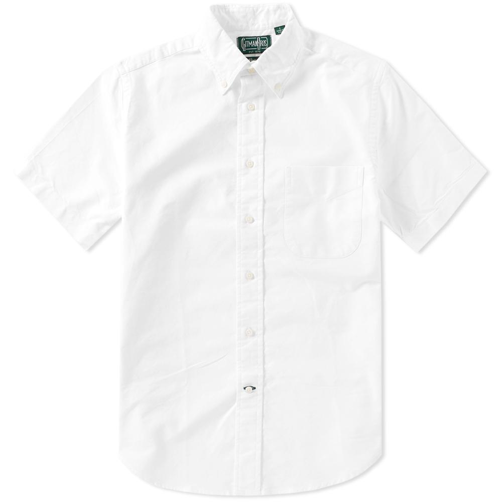 Gitman Brothers Vintage Short Sleeve Oxford Shirt In White