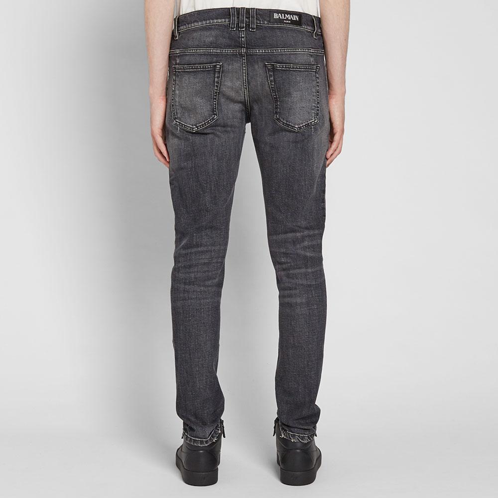 Balmain Cotton 6 Pocket Jean in Black for Men