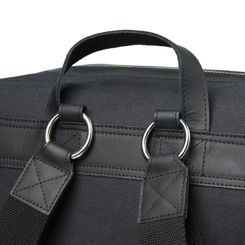 Sandqvist Adam Organic Cotton Backpack in Black for Men