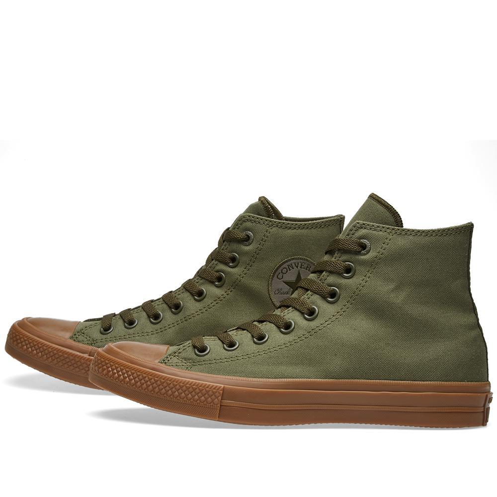 Converse Chuck Taylor Hi Canvas in Green for Men