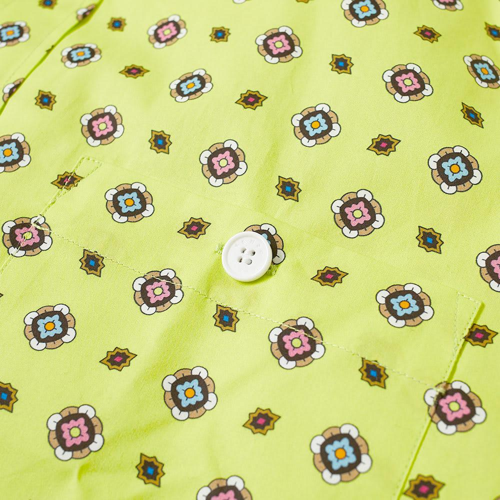 f8eb2a589 Lyst - KENZO Short Sleeve Geometric Shirt in Yellow for Men
