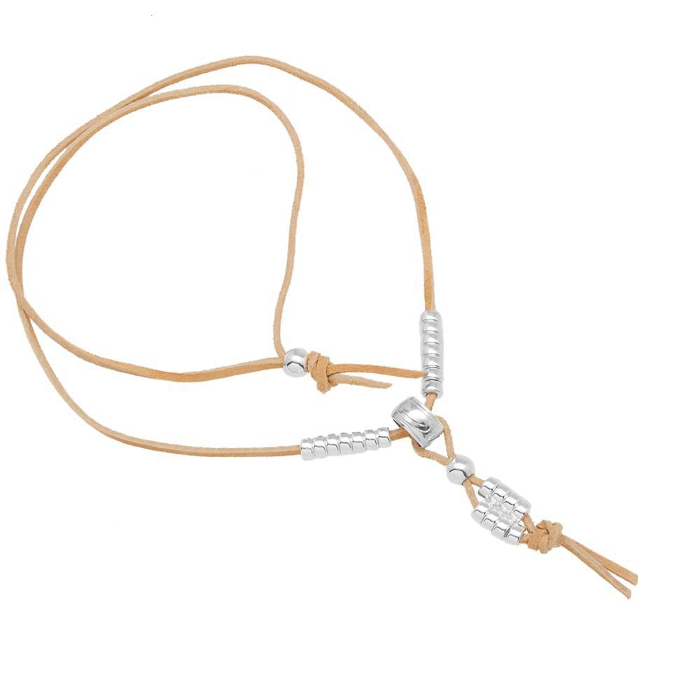 MAPLE X Justin Rivard Bead Necklace in Metallic for Men