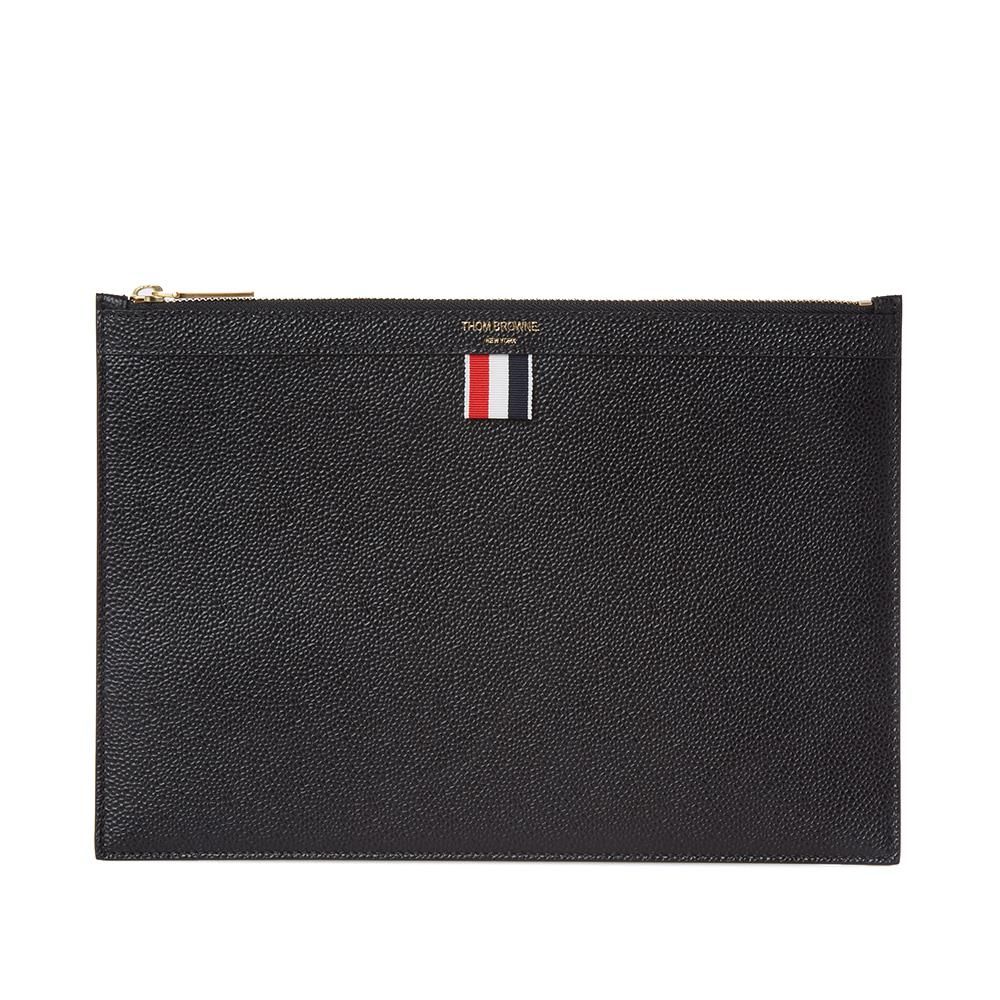 3677cc5a435 Thom Browne Zip Pouch in Black for Men - Save 2% - Lyst