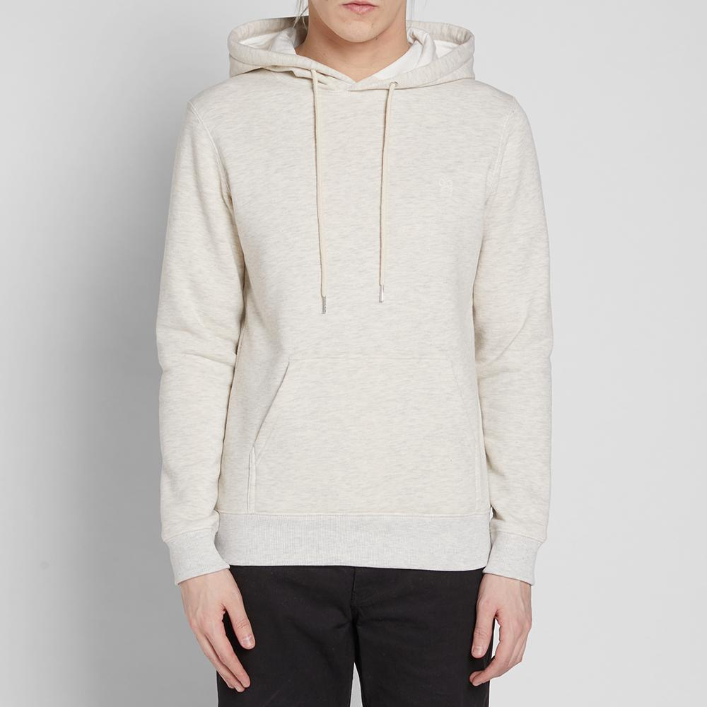 Soulland Cotton Wallance Pullover Hoody in White for Men