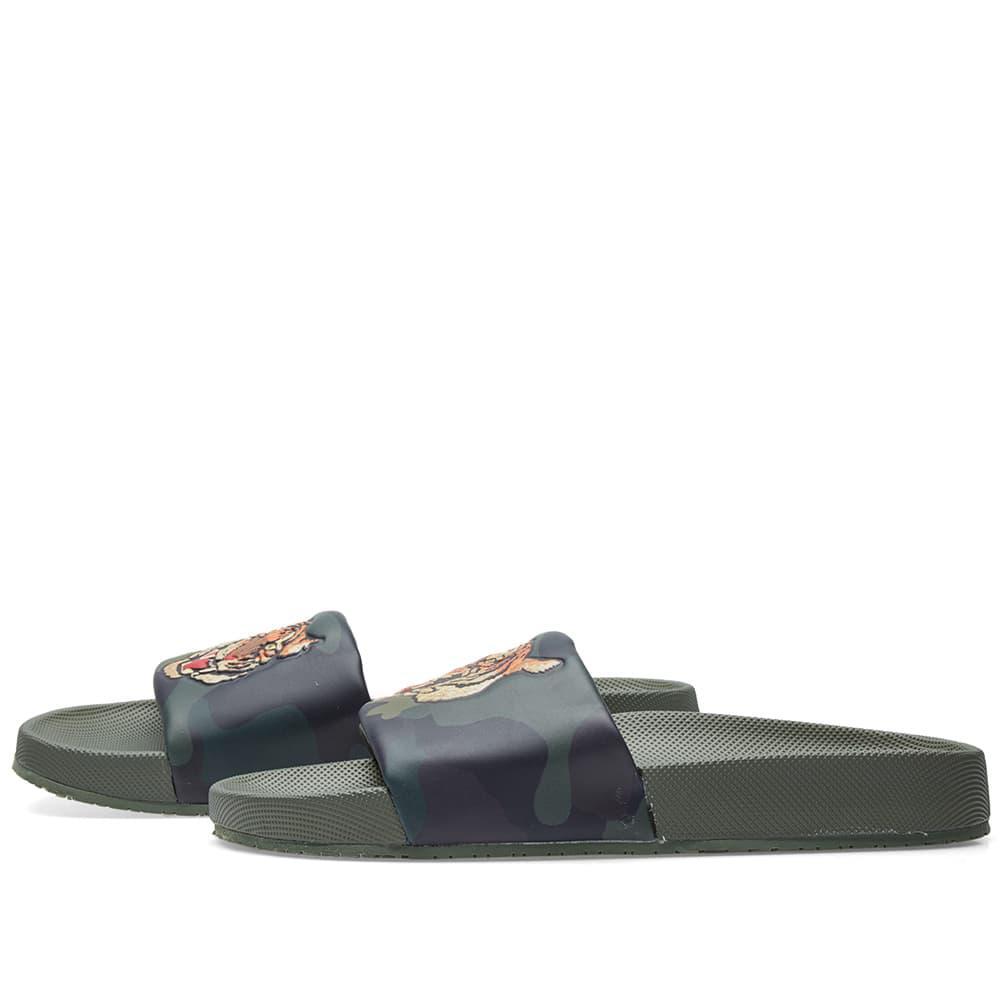 d39071a1223a Lyst - Polo Ralph Lauren Cayson Tiger Head Slide in Green for Men