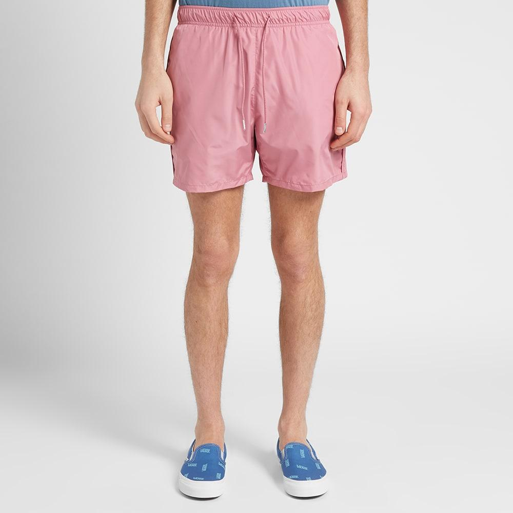 KING Apparel Men/'s Crimson Red Leyton Summer Track Jogger Shorts