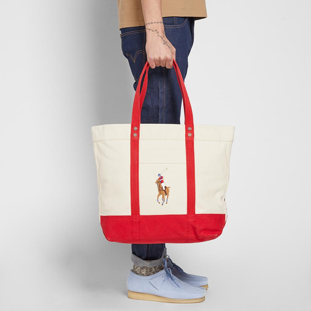 ed0c79c1d5 Lyst polo ralph lauren embroidered tote bag in red jpg 1000x1000 Polo ralph  lauren red totes